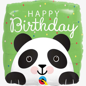 Balon foliowy 45 cm Panda Happy birthday