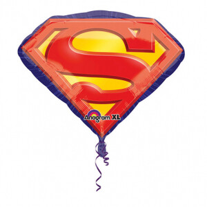 Balon foliowy znak Superman 66 cm x  50 cm