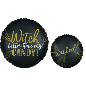 Balon foliowy 45 cm Witch Candy