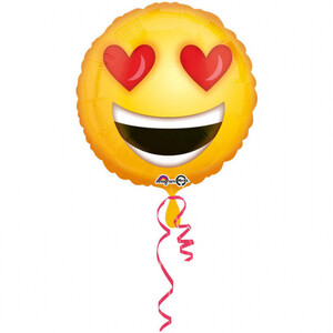 Balon foliowy 45 cm Love Emoticon