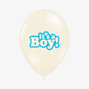 Balony kremowe  It's a Boy  35cm 1szt