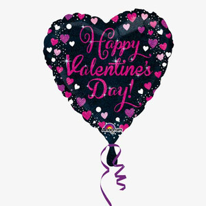 Balon foliowy 45 cm Happy Valentine's Day